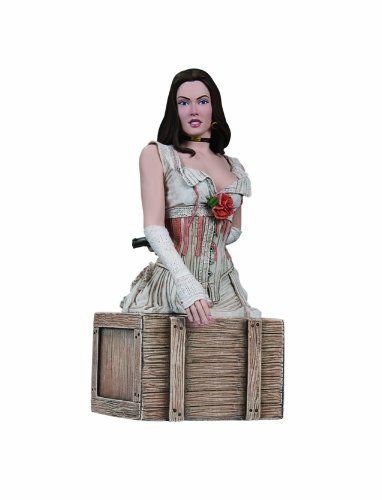 """DC Direct Jonah Hex (Movie): Leila Bust by Diamond Comics Distributors. Save 63 Off!. $29.95. Stands approximately 5.75"""" H x 2.75"""" W x 2.25"""" D. Hand-painted, cold-cast porcelain. Sculpted by Jean St. Jean. Taken from the live-action film based on the classic DC Comics stories. 4-color box. From the Manufacturer                Jonah Hex (Josh Brolin) is a scarred drifter and bounty hunter of last resort, a tough and stoic gunslinger who can track down anyone and anything. Having su..."""