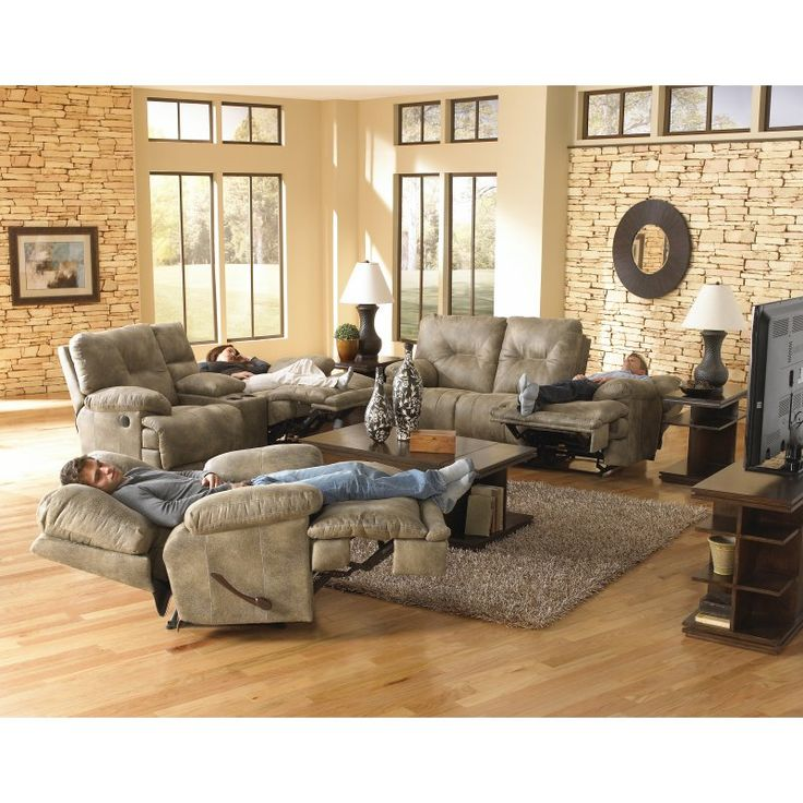 Catnapper Voyager Reclining Sofa Set   Brandy   CAT337