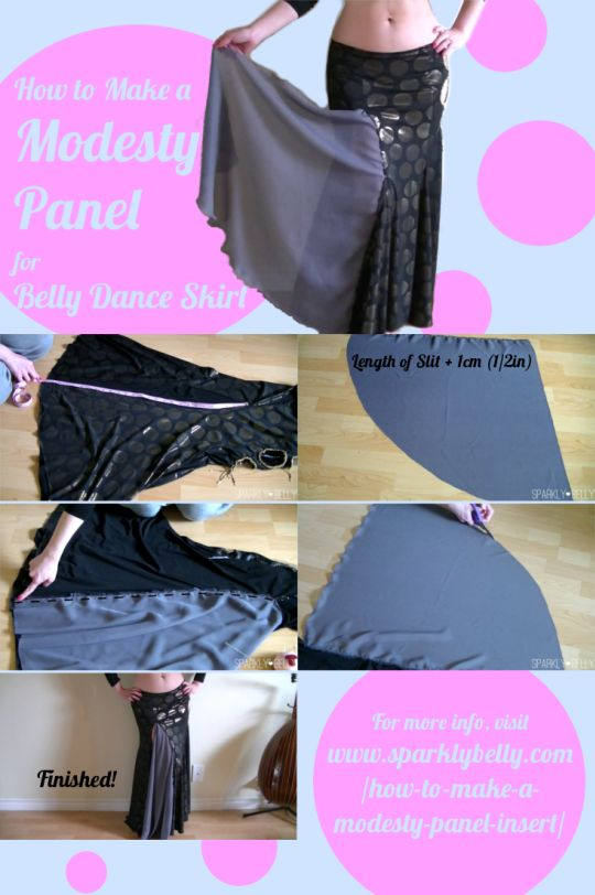 How to Make a Modesty Panel Insert for Belly Dance Skirts