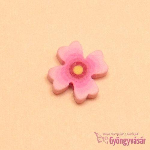 """""""Lila virág"""" - gyurma gyöngy"""