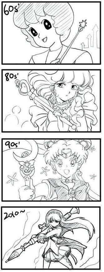FAN MADE/FAN ART ANIME & MANGA, Mahou Shoujo, 60's Sally The Witch/Mahou Tsukai Sally, 80s' Mahou no Tenshi Creamy Mami (Magical Angel Creamy Mami), 90s' Sailor Moon, 2010 Akemi Homura (Mahou shoujo madoka magica)