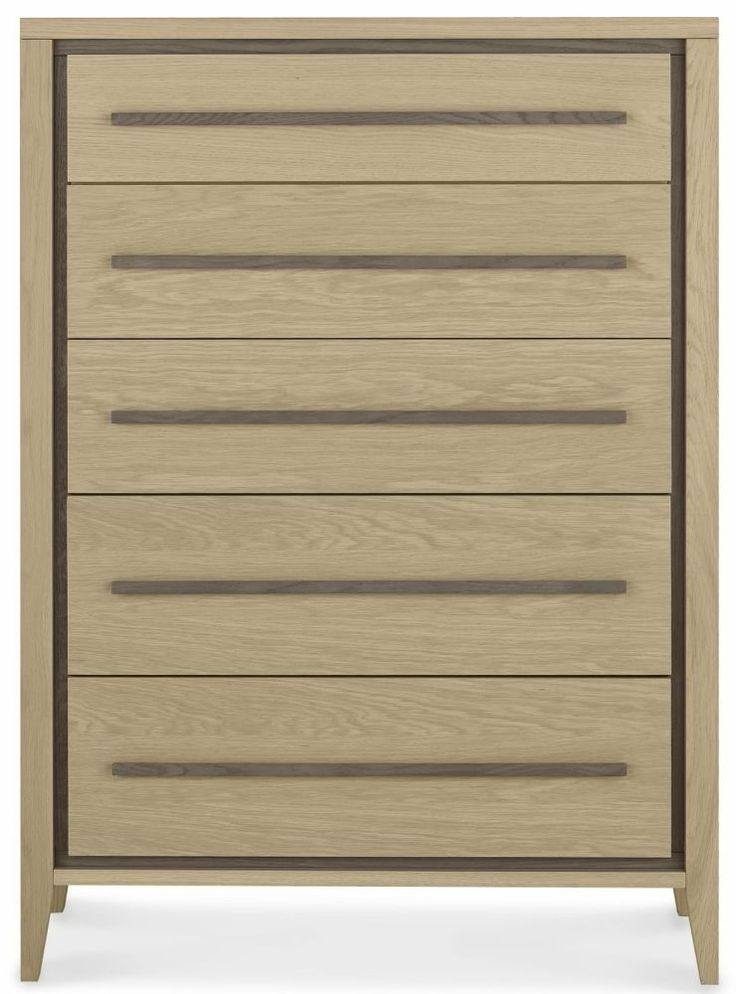 Bentley Designs Rimini Aged and Weathered Oak Chest of Drawer - 5 Drawer