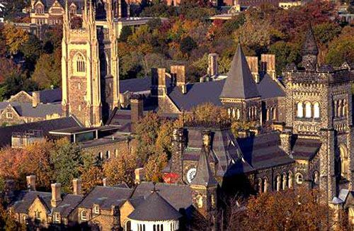 University of Toronto - St. George Campus.  Yes, this is Toronto, not some place in Massachusetts.  Take the time to explore all these beautiful buildings.