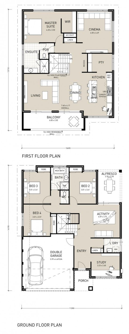 31 best Reverse Living House Plans images on Pinterest | Floor ...