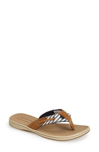 Sperry 'Seafish - Mariner Stripe' Flip Flop (Women) available at #Nordstrom