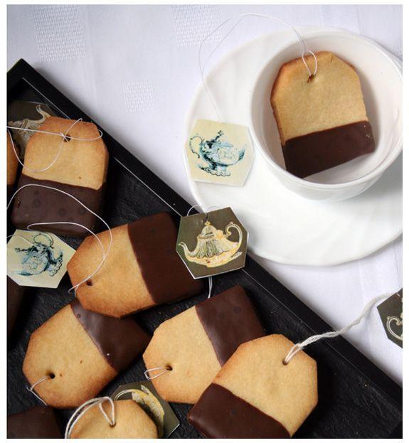 tea bag shaped cookies