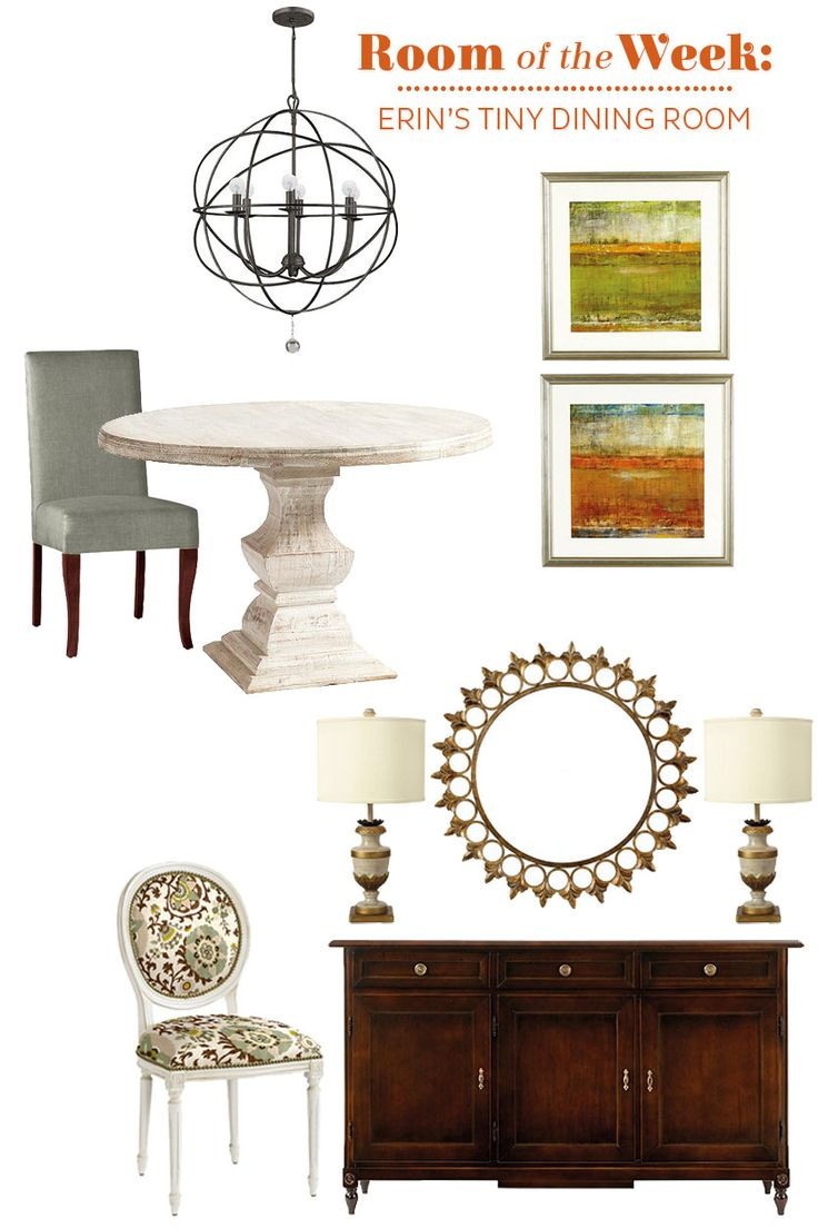 Choosing pieces for a small, open dining room