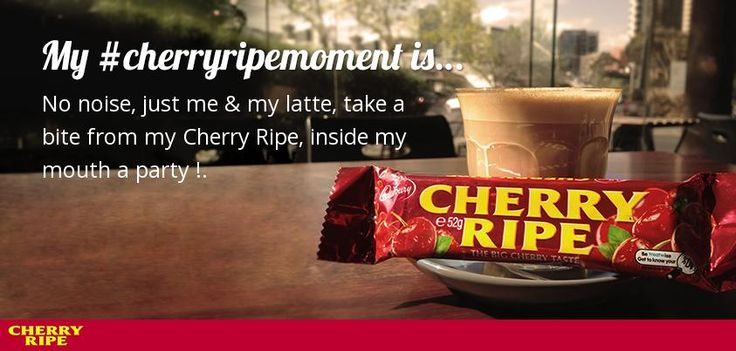 I just created my #cherryripemoment. Create your own for the chance to win a year's supply of CHERRY RIPE bars! http://apps.facebook.com/cherryripemoments