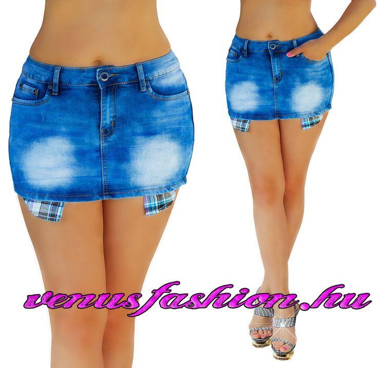 Sexy farmer mini szoknya XS S M L XL - Venus fashion női ruha webáruház
