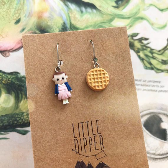 Stranger Things Inspired Earrings Eleven Handmade Clay Jewelry