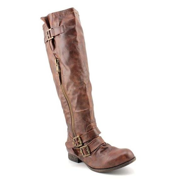 Carlos Santana Boots Brown. Gold hardware. Used condition, but well taken care of. Carlos Santana Shoes Combat & Moto Boots