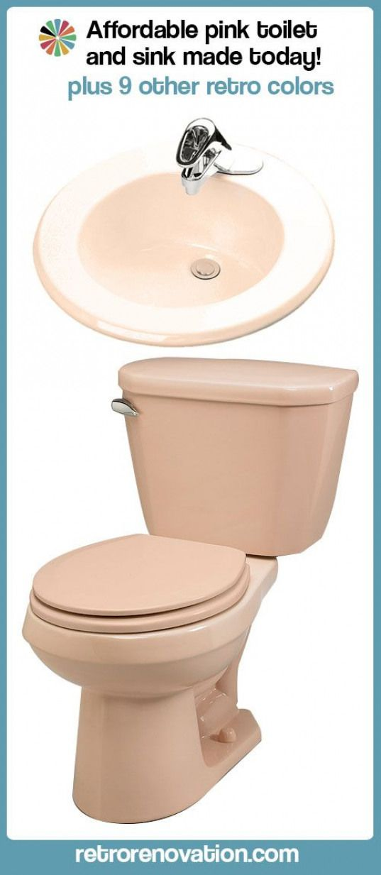 Pink Toilet And Bathroom Sink Still Being Manufactured For Sale