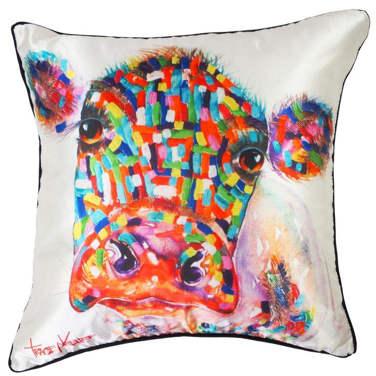 Moocow cow cushion cover tracey keller