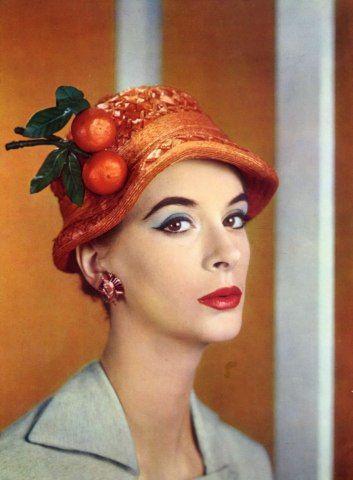 Jean+Barthet+Millinery+1956+ amazing orange!