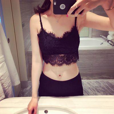 Sweet Summer Eyelash Lace Collar V Wrapped Chest Small Vest Backing Anti Female Underwear Bra Band