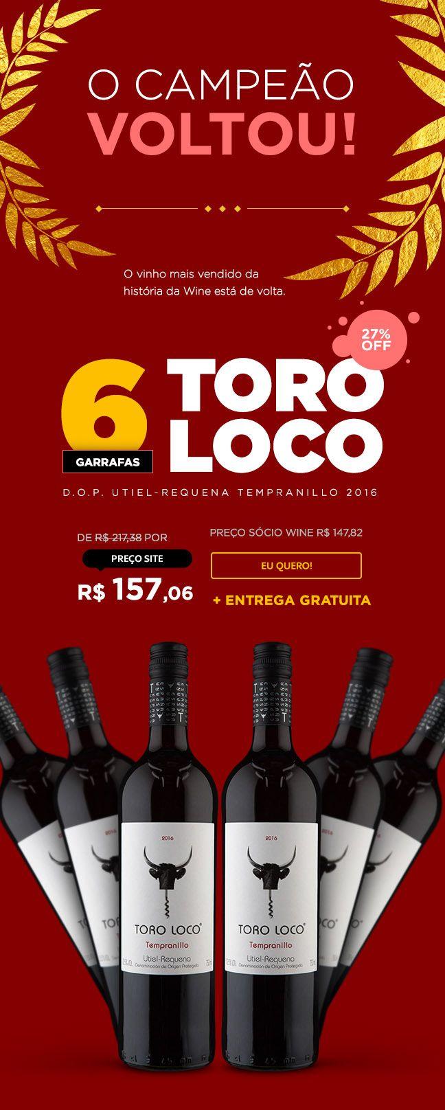 Newsletter Toro Loco Wine Com Br On Behance Tempranillo Newsletters Wine