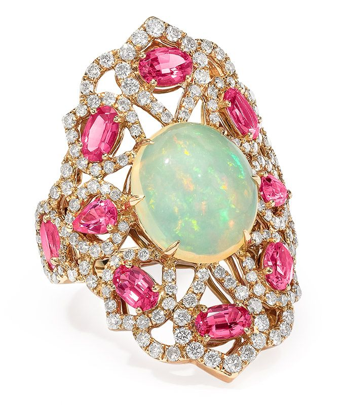 SUTRA ~ Opal and Spinel Ring