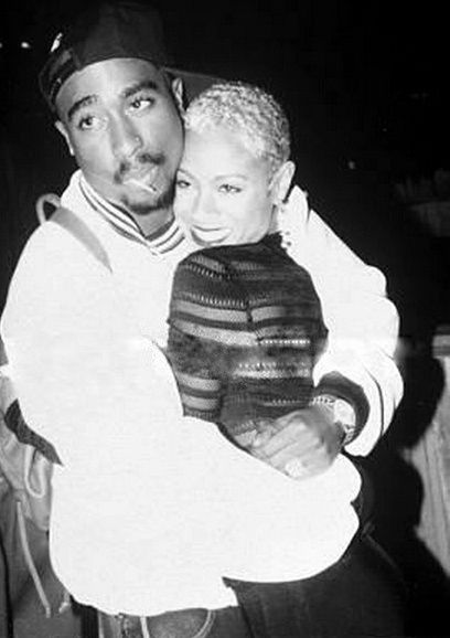 Jada Pinkett Smith  2pac! they had a brother sister relationship that i really thought was so cute.....2pac always said that he would give jada his heart or rib if she nedded it....now that is true love for somebody!