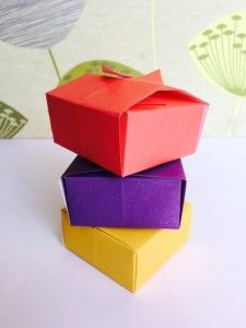 Paper craft origami boxes