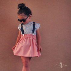 """Penny Skirt by Lacey Lane -100% cotton -Handmande at Lacey Lane HQ, Brisbane Australia -Light Pink Fabric -Elastic waistband -Regular fit"""