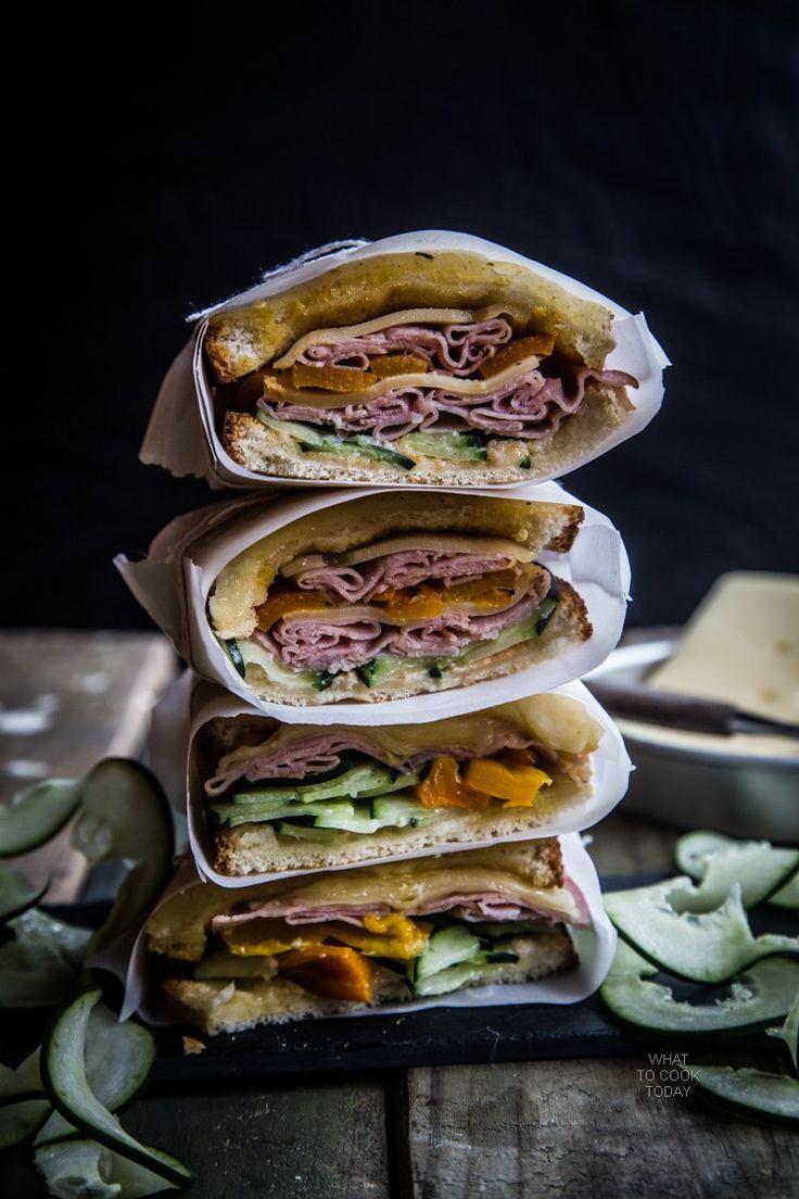 Ham and Gruyere sandwich #SandwichWithTheBest #ad. love gruyere