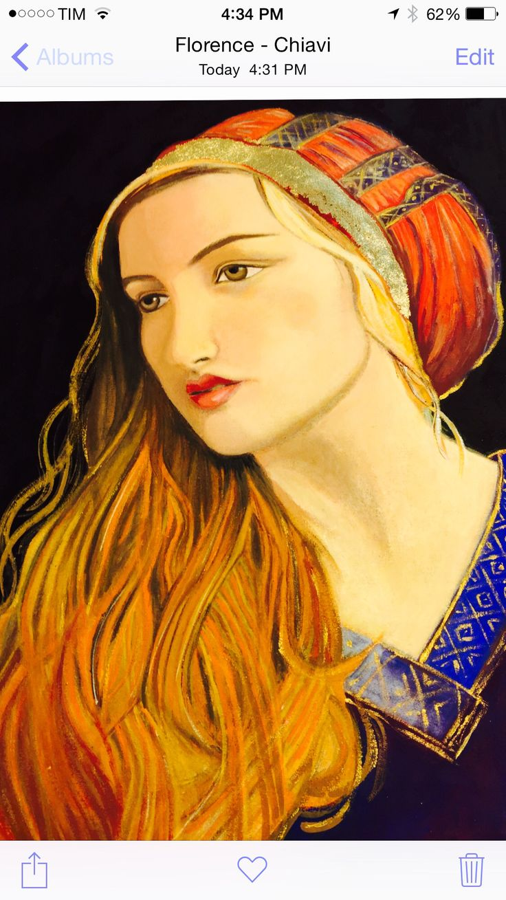 """By Marie Lardino, Portrait - 12x16"""", Egg Tempera, 15th century painting technique, at: Accademia D'Arte, Florence, Italy."""