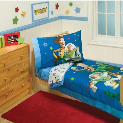Disney Toddler Bedding Set, Buzz, Woody and the Gang Toystory Comforter Boys Kid #Disney