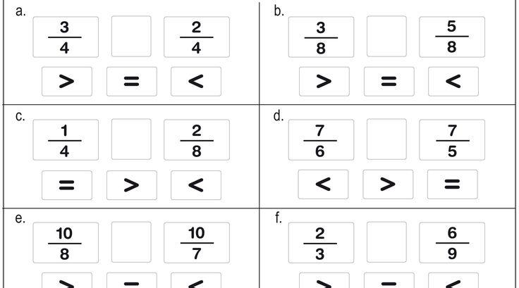 Recursos para el aula: Ejercicios de fracciones para primaria Ejercicios de fracciones para 5 y 6 de Primaria, para practicar