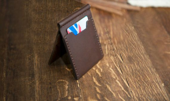 Leather Money Clip Wallet Handmade Money by kernezleathergoods