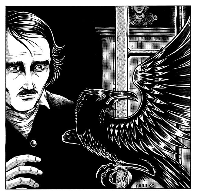 demon of despair as depicted in the raven by edgar allan poe Find homework help for other the raven questions at enotes raven, the speaker is singularly in despair to the point poem the raven by edgar allan poe.