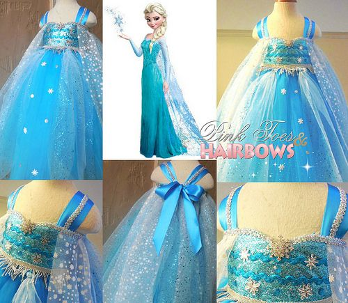 Elsa Snow Queen tutu dress disney princess
