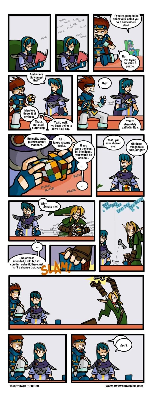AWKWARD ZOMBIE - Rubix Rubes (Link is the Forrest Gump of gaming.)