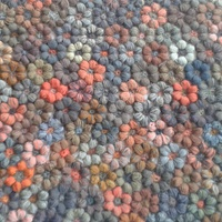 """Sophie Digard So unusually different - you don't automatically think """"That's a crochet blanket!""""....and it grows on me a little bit more every time I see it!"""