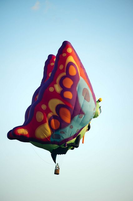 Butterfly Hot Air Balloon.. How fun is this?!