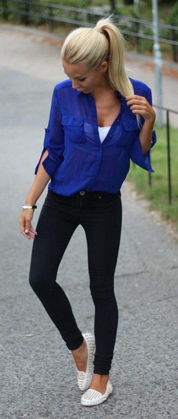 40 Simple And Cute Outfit Ideas | http://fashion.ekstrax.com/2014/10/simple-and-cute-outfit-ideas.html