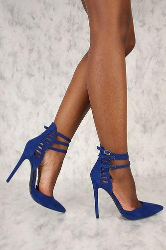 a8db7e582ac So cute heels! Blue Hells. High Heel Sandals  VALSTORE