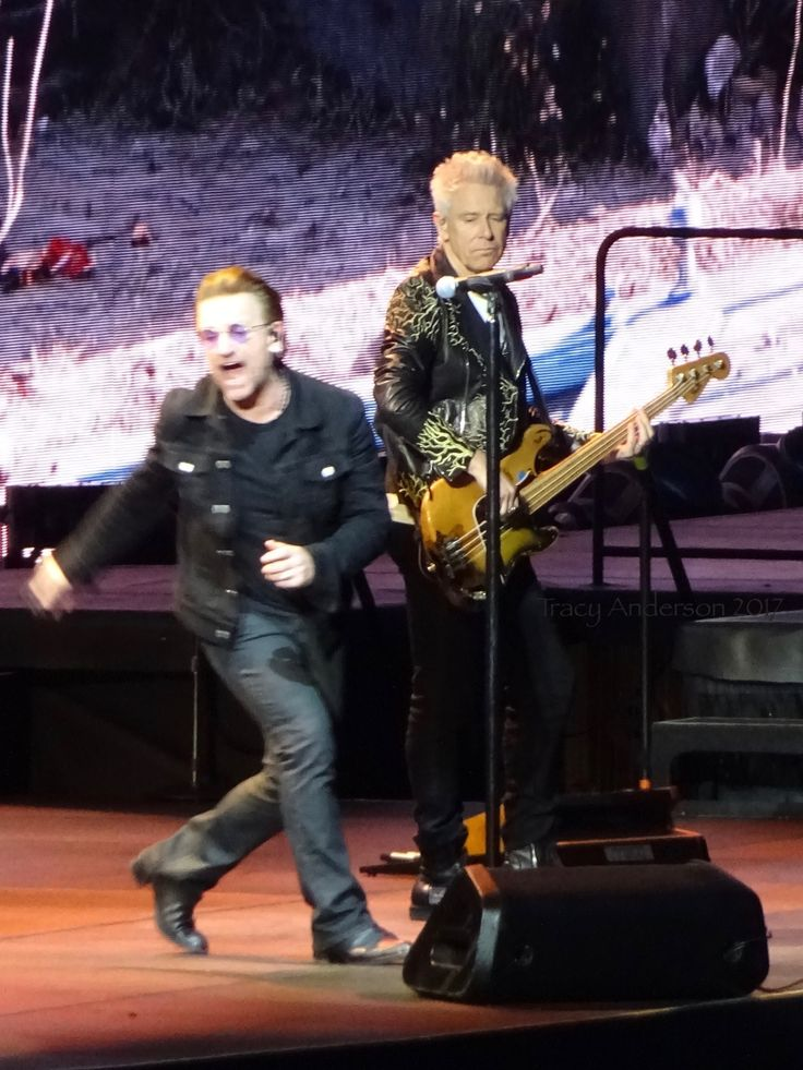 Bono and Adam Croke Park Dublin July 22 2017