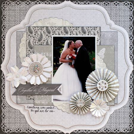 wedding layout by Kristine Berc (little yellow bicycle)