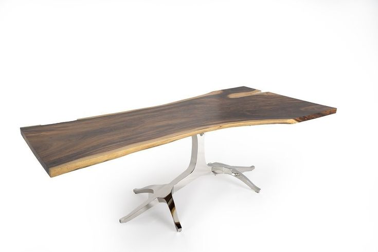 $5,899.00 North Teak Apollo Live Edge Dining Table - 8 ft - (1602 - 12) A natural masterpiece, our Live Edge Dining Table will certainly be a highlight piece in any space! While the general measurements and wood staining techniques are consistently maintained, each table top is unqiue and will portray the character of the slab that was cut for it.