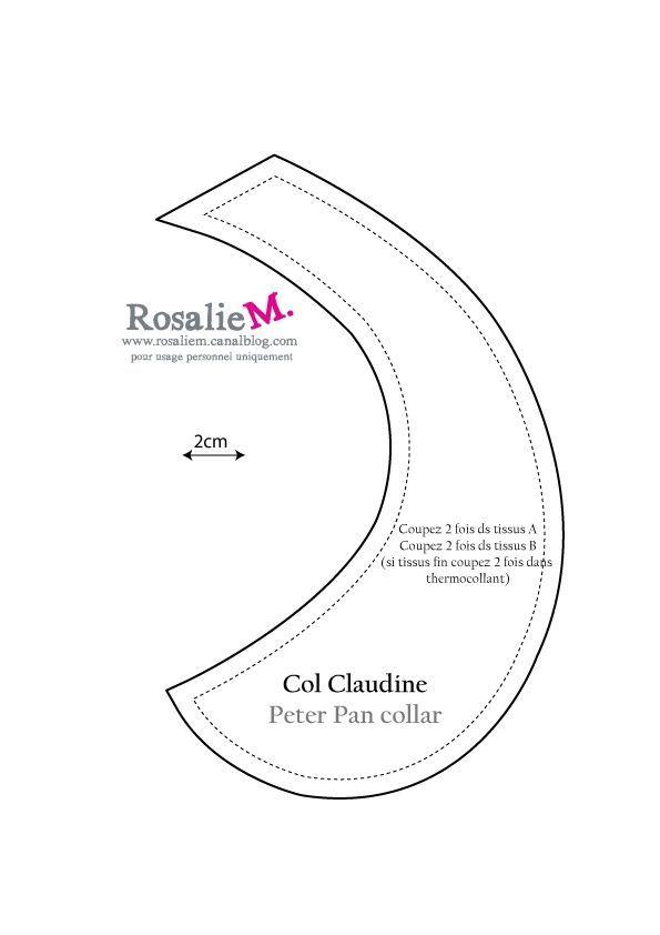 Col Claudine : patron et tuto (Rosalie.M)