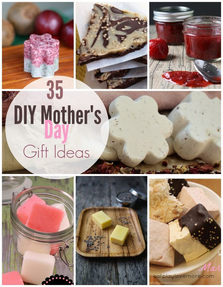 35 DIY Mother's Day Gift Ideas - including some low budget $$ ideas #DIY #mothersday #gift