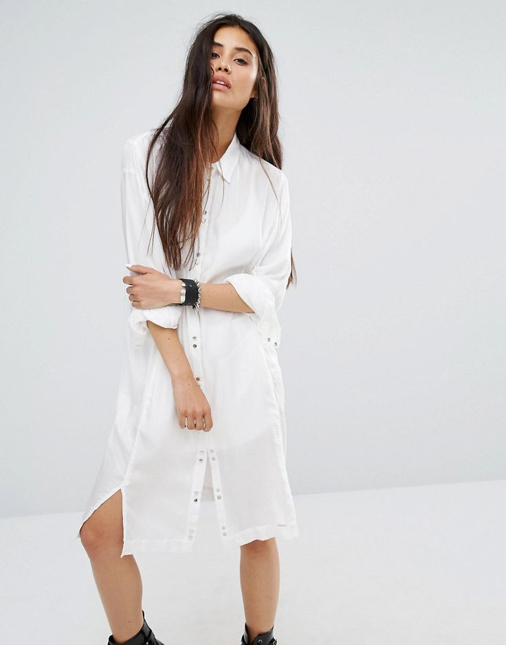 Get this Diesel's shirtwaist dress now! Click for more details. Worldwide shipping. Diesel Shirt Dress - White: Dress by Diesel, Soft-touch lightweight woven fabric, Semi-sheer finish, Point collar, Press-stud placket, Side splits, Relaxed fit, Machine wash, 100% Viscose, Our model wears a UK S/EU S/US XS and is 170cm/5'7 tall. Founded by Renzo Rosso in 1978 with an emphasis on dynamic, quality-made garments, Diesel are renowned globally for their innovative cuts and creative design methods…