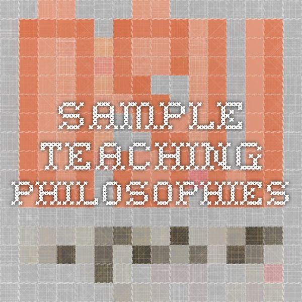 sample teaching philosophies