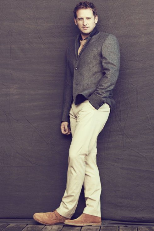Josh Lucas, in Mr. Porter Journal.  Very handsome with the earth tones. Very well thought out!  Way to go, you sexy devil!