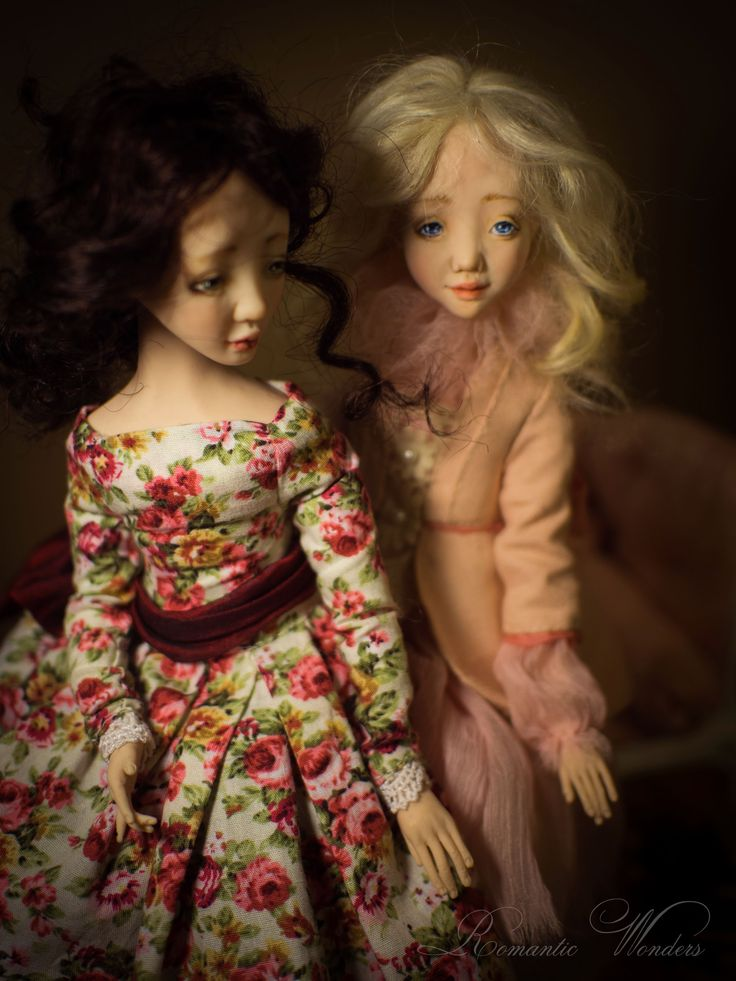 Tea Roses - Art dolls by Romantic Wonders