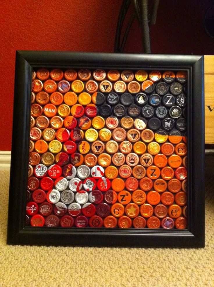 Awesome art pieces made out of wine bottle foils