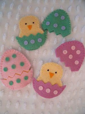 Easter-craft ideas-Felt hatching chicks