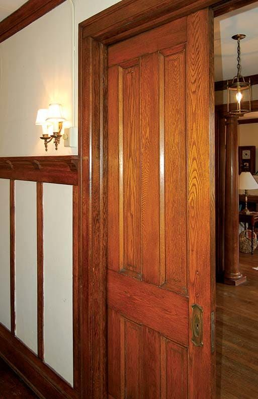 How To Repair Pocket Doors Old House Journal Magazine How to Repair Scratches on Wood Cabinets and Furniture Todays Homeowner How To Fix A. House, Wooden Doors Interior, Home, Pocket Doors, Diy Interior Doors, Old House, Bathroom Repair, Home Repairs, Wood Doors Interior