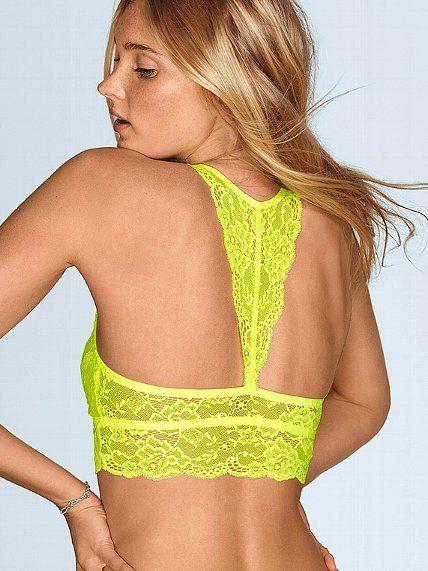 Lace Racerback Bralette, great under drapey summer tops