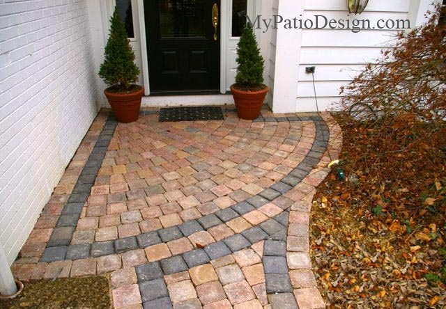 Paver Patterns For Walkways | ... MyPatioDesign.com | Photos of Paver Sidewalks . All Rights Reserved
